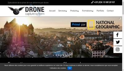 Site internet de Drone Capture System