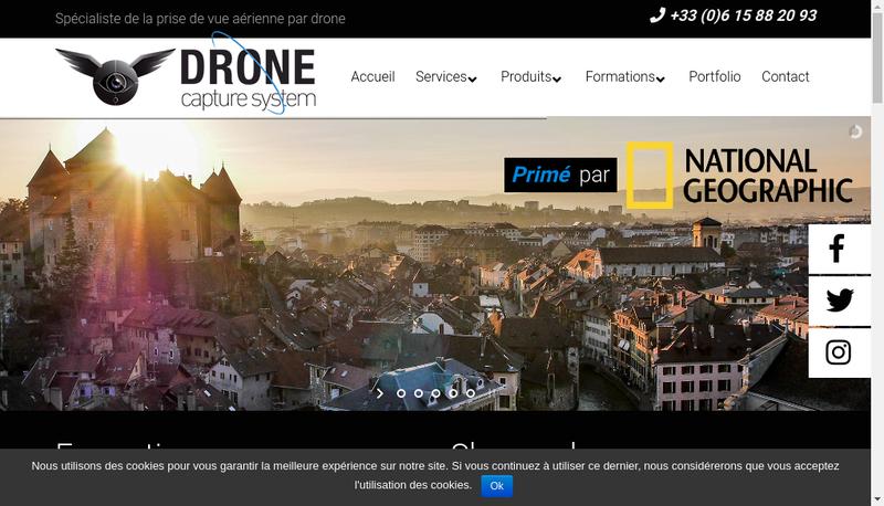 Capture d'écran du site de Drone Capture System