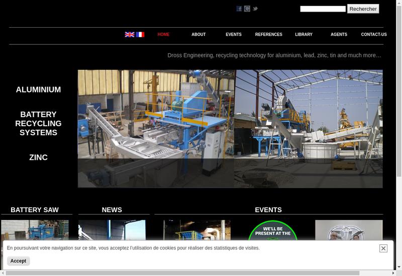 Capture d'écran du site de Dross Engineering