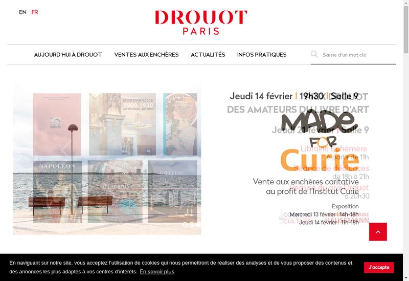 Capture d'écran du site de Drouot Enchere