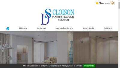 Site internet de Ds Cloison