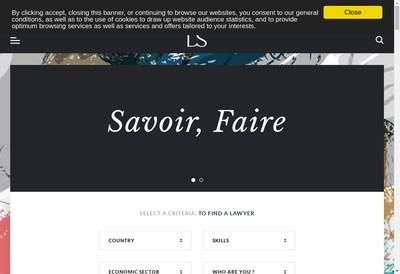 Site internet de Aarpi Ds Avocats