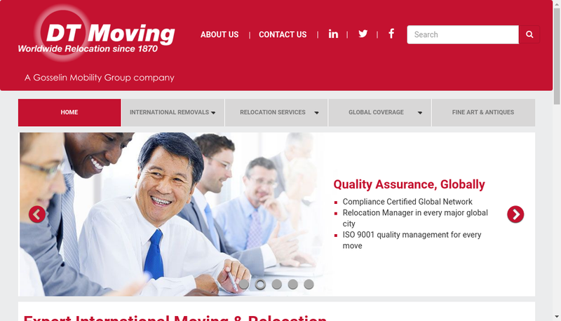 Capture d'écran du site de Dt Moving France