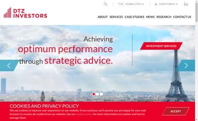 Site internet de Dtz Asset Management