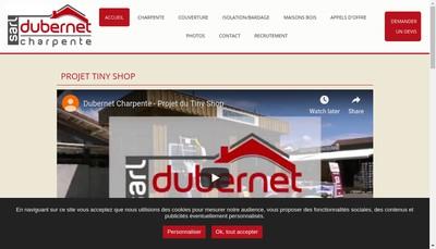Site internet de Dubernet Charpente