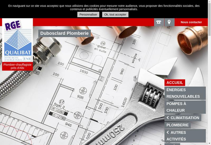 Capture d'écran du site de Dubosclard Plomberie