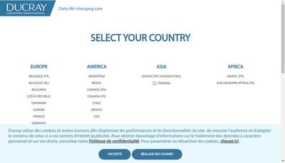 Site internet de Laboratoires Dermatologiques Ducray