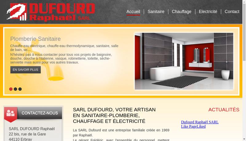 Capture d'écran du site de SARL Raphael Dufourd