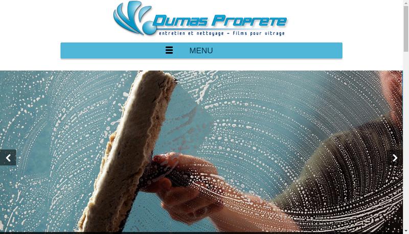 Capture d'écran du site de SARL Dumas Proprete