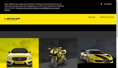 Site internet de Goodyear Dunlop