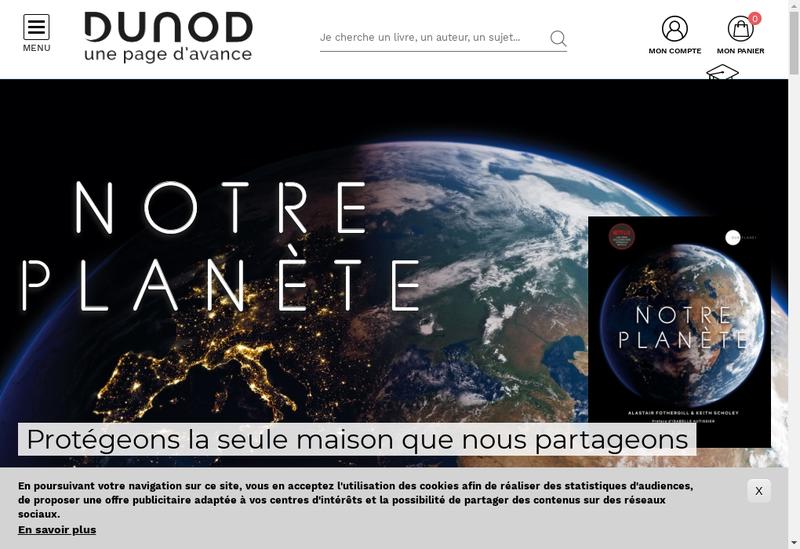Capture d'écran du site de Dunod Editeur