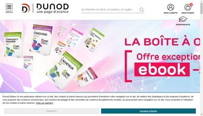 Site internet de Dunod Editeur