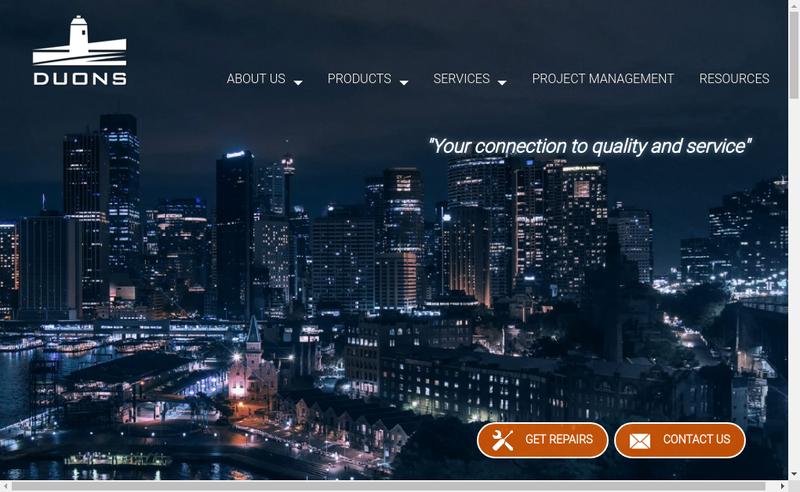 Capture d'écran du site de Duons