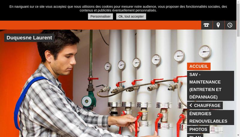 Capture d'écran du site de Duquesne