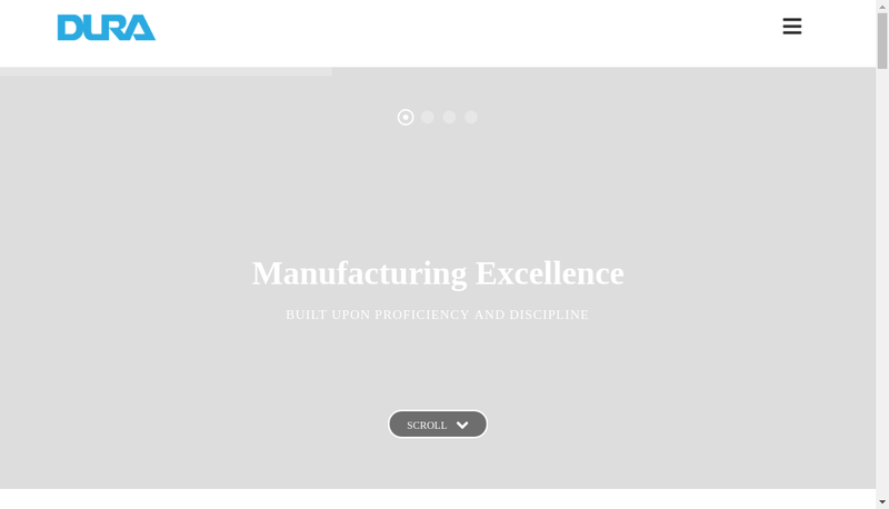 Capture d'écran du site de Dura Automotive Systems