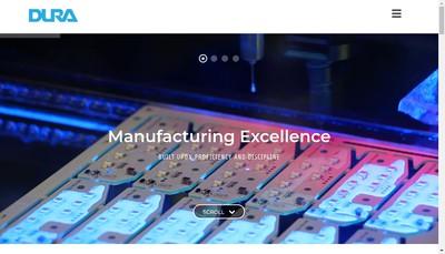 Site internet de Dura Automotive Systems
