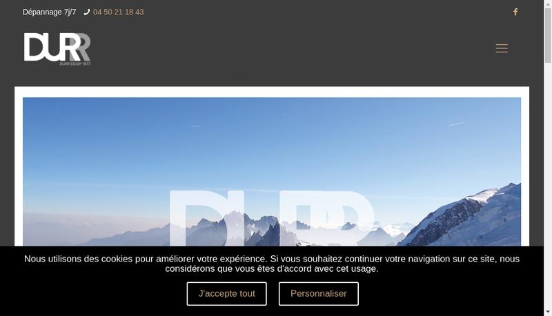 Capture d'écran du site de Durr Equip