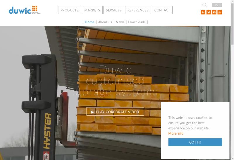 Capture d'écran du site de Duwic