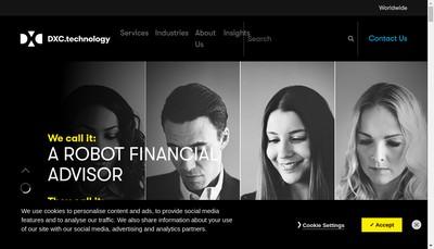 Site internet de Dxc Technology Financial Services