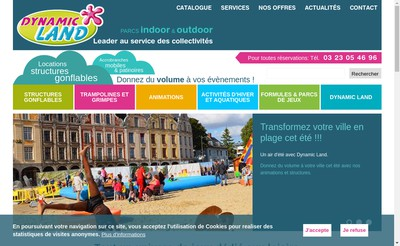 Site internet de Dynamic Land