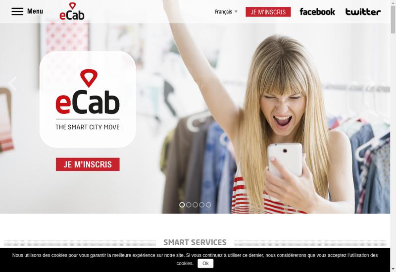 Capture d'écran du site de ECAB
