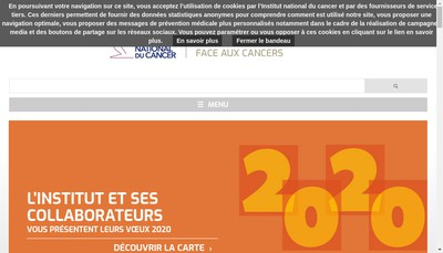 Site internet de Institut National du Cancer