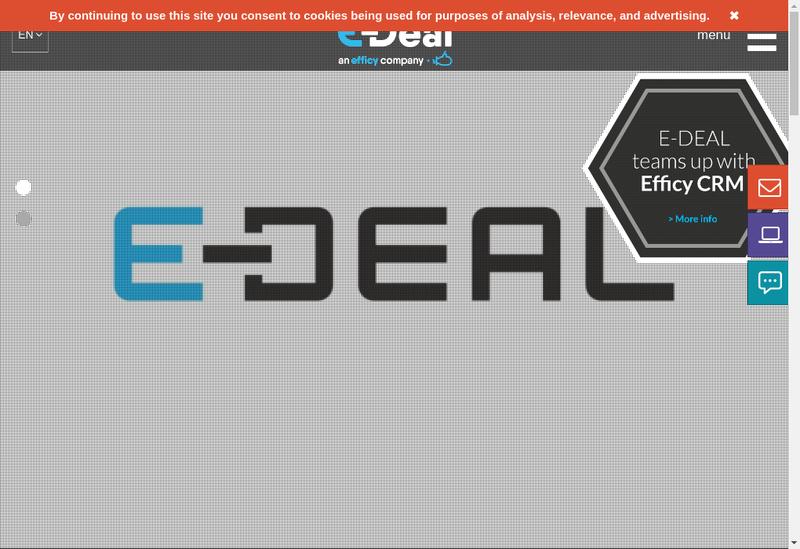 Capture d'écran du site de E Deal