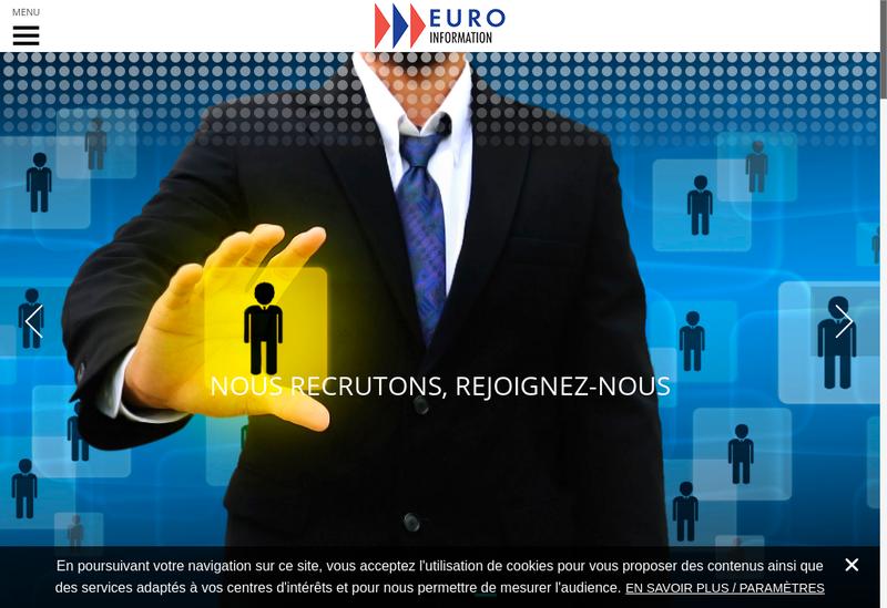 Capture d'écran du site de Euro Information Developpements