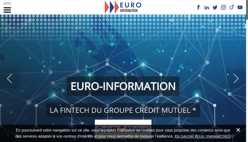 Capture d'écran du site de Euro-Information Europeenne de Traitement de l'Information