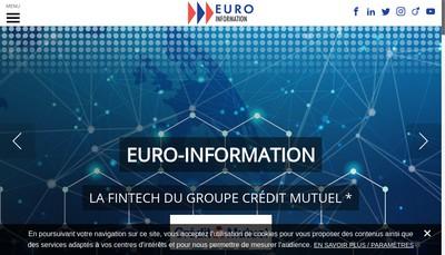 Site internet de Euro-Information Europeenne de Traitement de l'Information