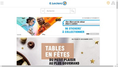Site internet de Centre E Leclerc