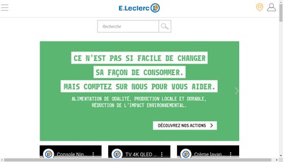 Site internet de Centre Leclerc