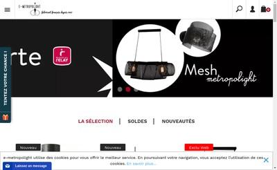 Site internet de Metropolight