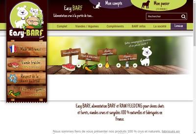 Site internet de Easy Barf SARL