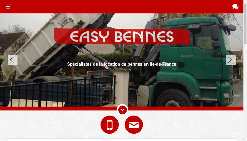 Capture d'écran du site de Easy Bennes