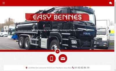 Site internet de Easy Bennes