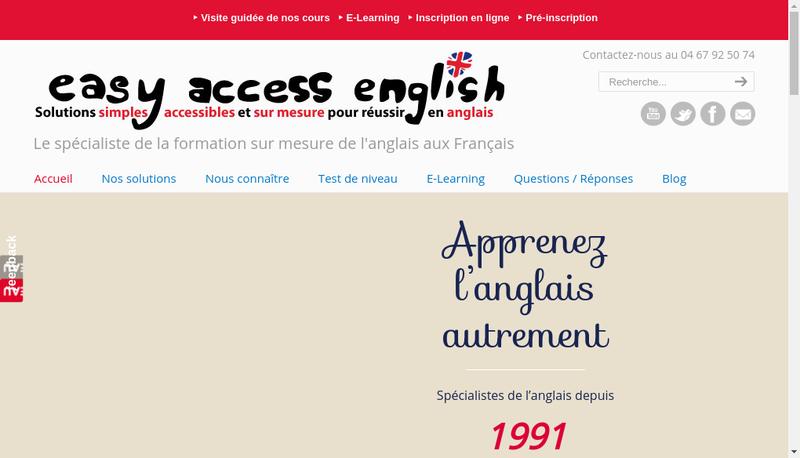 Capture d'écran du site de Easy Access English