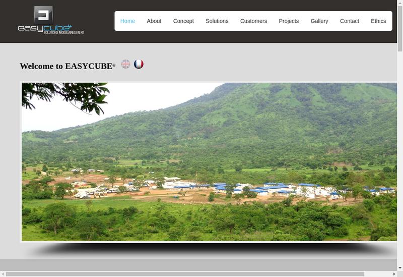 Capture d'écran du site de Easycube 4 Trading