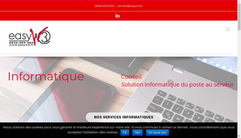 Capture d'écran du site de Easy W3