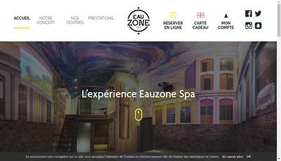 Site internet de Eauzone Spa