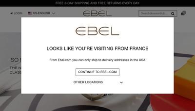 Site internet de Ebel