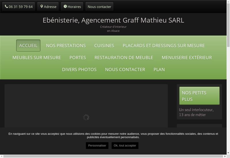 Capture d'écran du site de Ebenisterie Agencement Graff Mathie