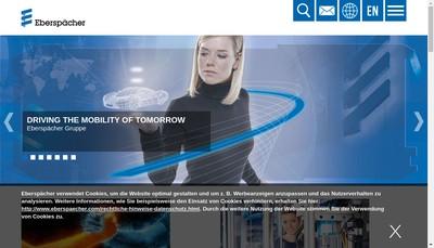 Site internet de Eberspacher Systemes d'Echappement SAS