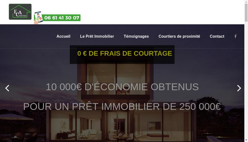 Capture d'écran du site de Bm Assurances