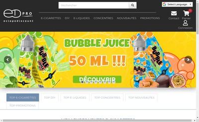 Site internet de Eclope Discount