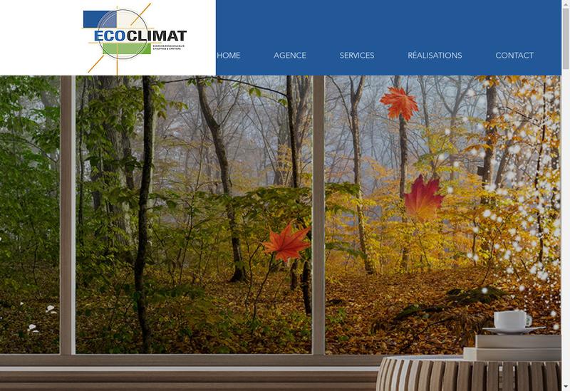 Capture d'écran du site de Ecoclimat