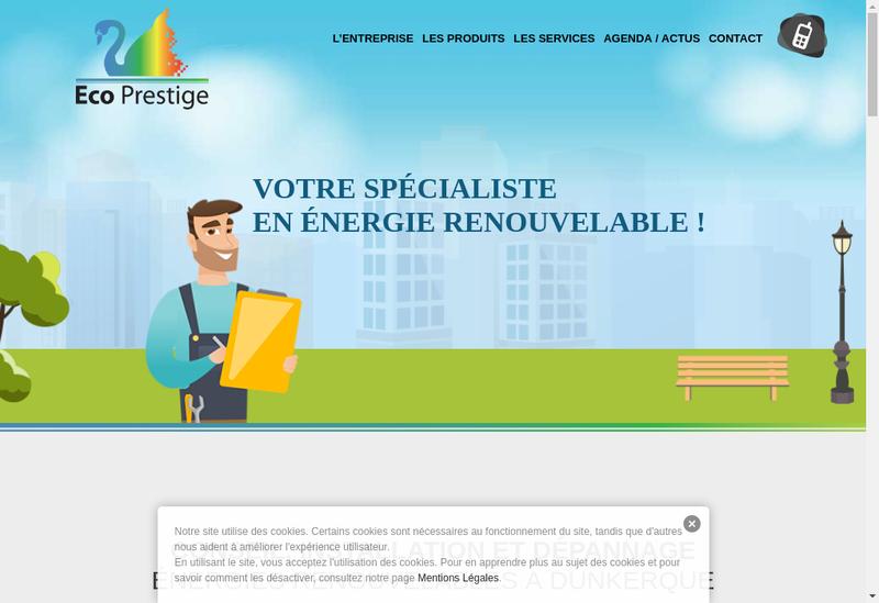 Capture d'écran du site de Eco Prestige