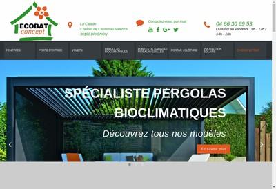 Site internet de Ecobat-Concept