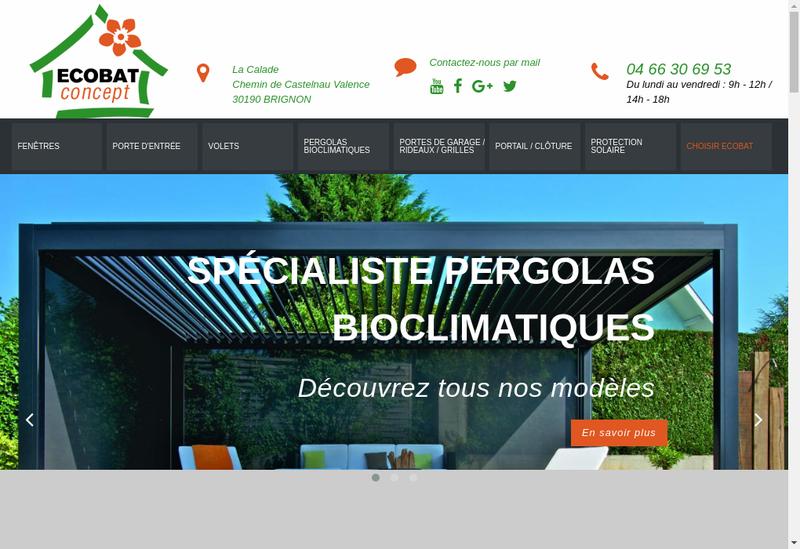 Capture d'écran du site de Ecobat Concept