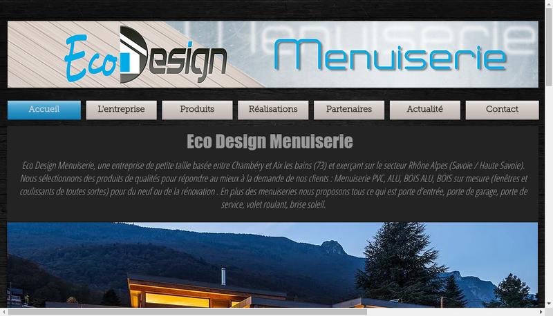 Capture d'écran du site de Eco Design Menuiserie